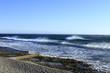 Shorebreak waves france