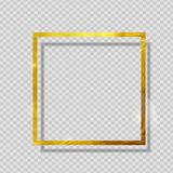 Fototapety Gold Paint Glittering Textured Frame on Transparent Background. Vector Illustration