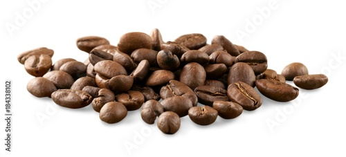 Deurstickers Koffiebonen Coffee Beans isolated on white