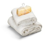 Spa Soap and Towel - 184344526