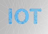 IOT text as vector illustration. Internet of things conceptual background - 184346533