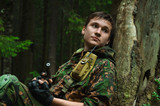 soldiers in the woods - 184370529