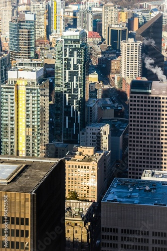 Foto op Plexiglas New York TAXI Seattle downtown views