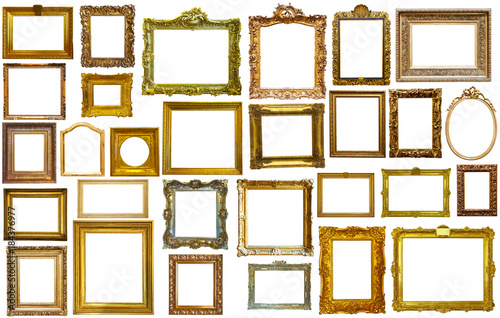 collectrion of calssical art frames