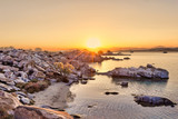 The sunrise in Kolymbithres of Paros, Greece - 184389592