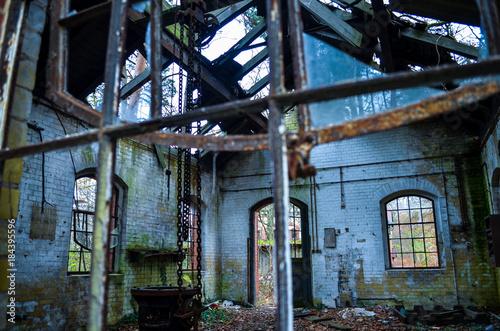 Fotobehang Oude verlaten gebouwen old lost abandonend factory building