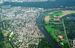 Aerial view of Frankfurt am Main, Germany.