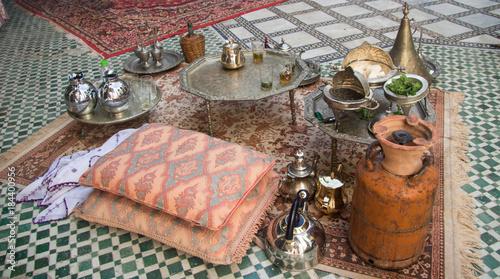 Plexiglas Marokko Traditional mint tea in Morocco