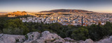 View of Acropolis and Athens from Filopappou hill at sunset, Greece.   - 184401757