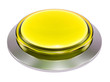 Quadro 3d yellow shiny button. Round glass web icons with chrome frame on white background. 3d illustration