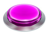 3d purple  shiny button. Round glass web icons with chrome frame on white background. 3d illustration - 184421776