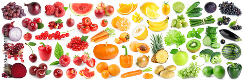 Collection of fruits and vegetables - 184434930