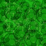 Soccer balls seamless background pattern. Grungy vector illustration - 184436776
