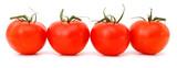bunch of fresh cherry tomato on white background