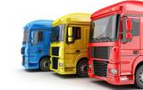 Three colored big truck - 184440586