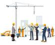 Baustelle mit Architekt und Bauherrn - 184443394