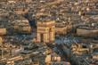 Famous Champs-Elysees and Arc de Triomphe in Paris