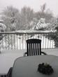 Verschneiter Balkon im Advent