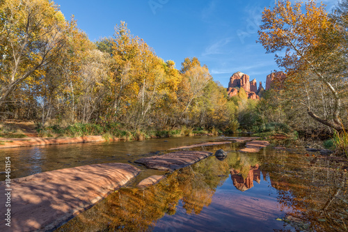 Poster Arizona Cathedral Rock Sedona Arizona Fall reflection