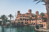 Dubai. Souk Madinat Jumeirah in Dubai in the early morning.