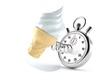 Ice cream with stopwatch