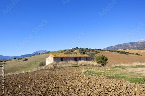 Foto op Canvas Natuur andalucian farm building
