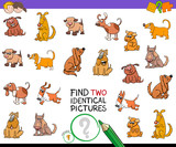 find two identical pictures game with dogs - 184479560