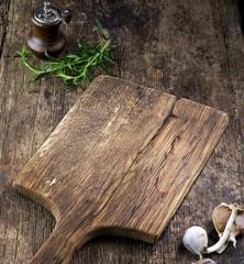 empty wooden cutting board