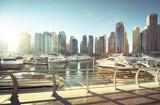Dubai Marina at sunset, United Arab Emirates - 184490756