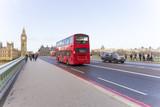 Double decker bus in Westminster bridge