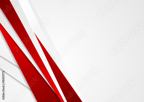 Fototapeta Abstract red and grey stripes corporate background