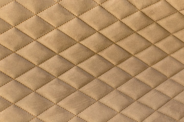 Decorative background of fabric with coach-type screed