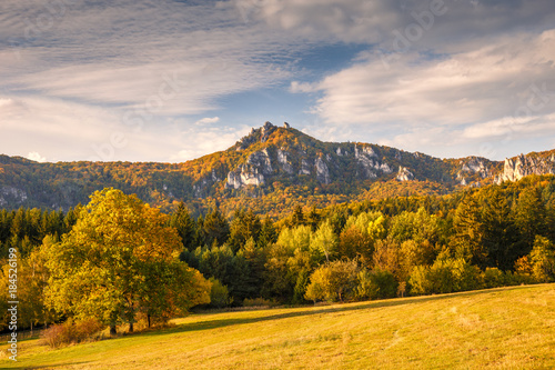 Tuinposter Herfst Mountains in the Sulov rocks Nature Reserves in the autumn, Slovakia, Europe.