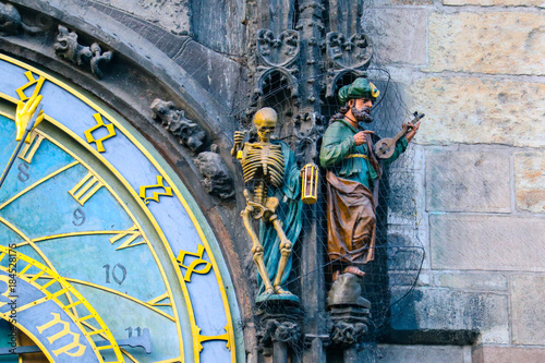 Prague astronomical clock, close up Poster