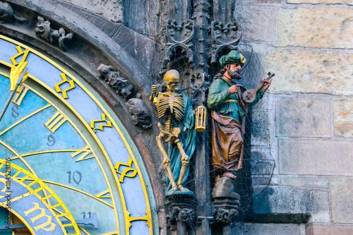 Prague astronomical clock, close up Poster