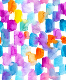 Background with colorful watercolor spots.  Raster seamless pattern. - 184533391