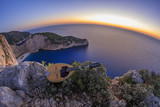 Shipwreck beach ( Navagio ) in Zante Zakynthos Greece