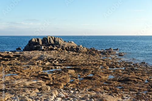 Foto op Canvas Pool Rocher du Goudoul sur la côte du Finistère