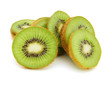 Kiwi fruit slices on white background - 184559978