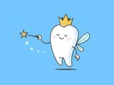 Tooth fairy vector cartoon illustration
