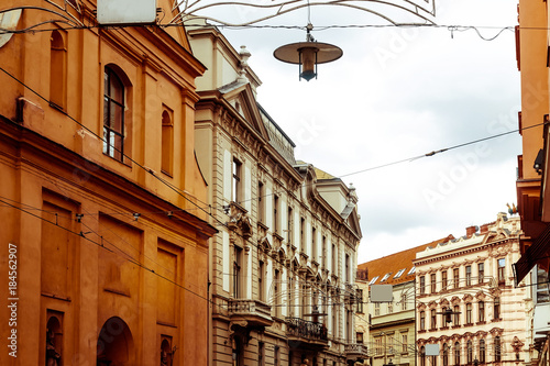 antique building view in Brno, Czech Republic Poster