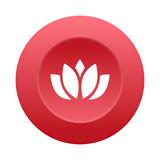 Runder 3D Button - Lotus