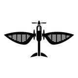 Airplane icon, simple style