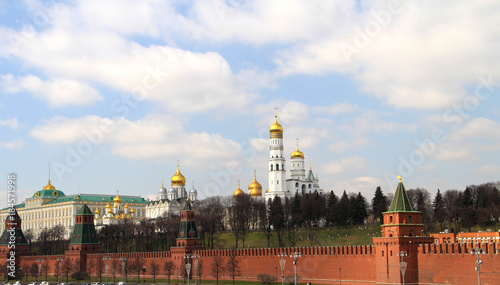 Plexiglas Moskou a view of the temples and towers of the Moscow Kremlin