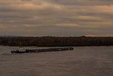 Big barge on a river Dnieper - 184572364