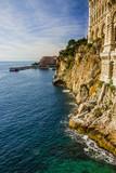 Monaco and Monte Carlo principality. Sea view. Oceanographic museum building - 184572535