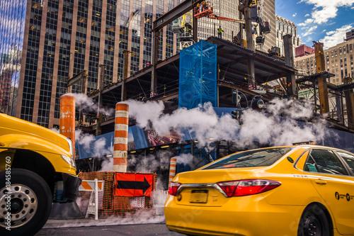 Foto Murales taxi New York chantier