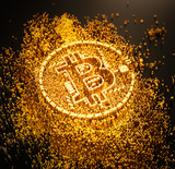 Bitcoin cryptocurrency - 184607749