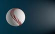 baseball isolated on the dark background 3d render