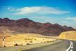 Mountain road in desert